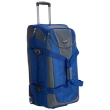 "High Sierra Grip Expandable Wheeled Duffel Bag with Backpack Straps- 32"" in Blue - Closeouts"
