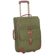 "High Sierra Heritage Collection 22"" Expandable Carry-On Luggage - Rolling, Leather Trim in Olive Green - Closeouts"