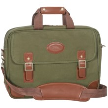 High Sierra Heritage Collection Briefcase - Leather Trim in Olive Green - Closeouts