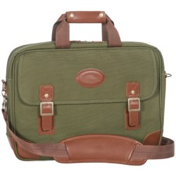 High Sierra Heritage Collection Briefcase - Leather Trim in Olive Green