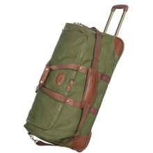 "High Sierra Heritage Collection Rolling Duffel Bag - 29"", Leather Trim in Olive Green - Closeouts"