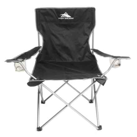 High Sierra High Back Camping Chair - Extra Wide in Black - Closeouts