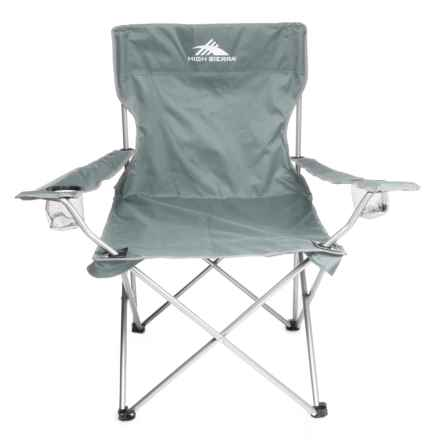 High Sierra High Back Camping Chair - Extra Wide in Gray - Closeouts