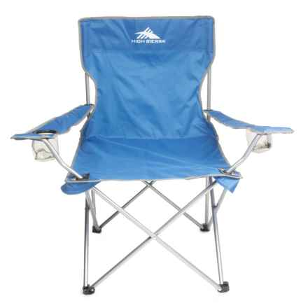 High Sierra High Back Camping Chair - Extra Wide in Royal Blue - Closeouts