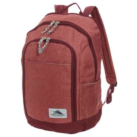 High Sierra Jaden 21L Backpack in Clay Heather/Cranberry - Closeouts
