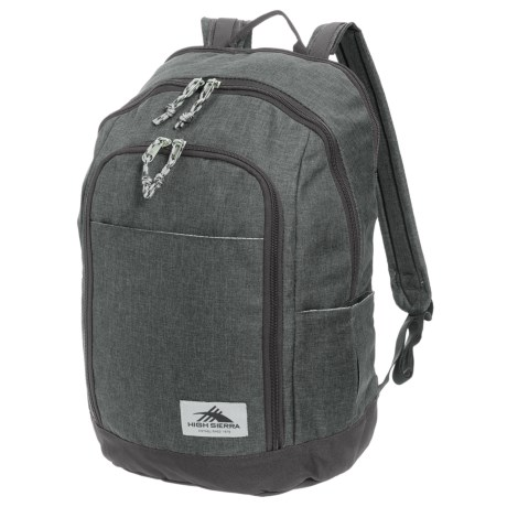 High Sierra Jaden 21L Backpack in Grey Heather/Mercury