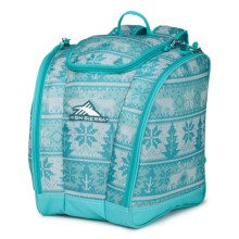 High Sierra Junior Trapezoid Boot Bag (For Little and Big Kids) in Knitty Pow/Tropical Teal - Closeouts
