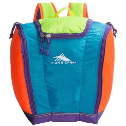 High Sierra Junior Trapezoid Boot Bag (For Little and Big Kids) in Neon Colorblock - Closeouts