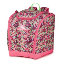High Sierra Junior Trapezoid Boot Bag (For Little and Big Kids) in Prizm/Fuchsia/Lime - Closeouts