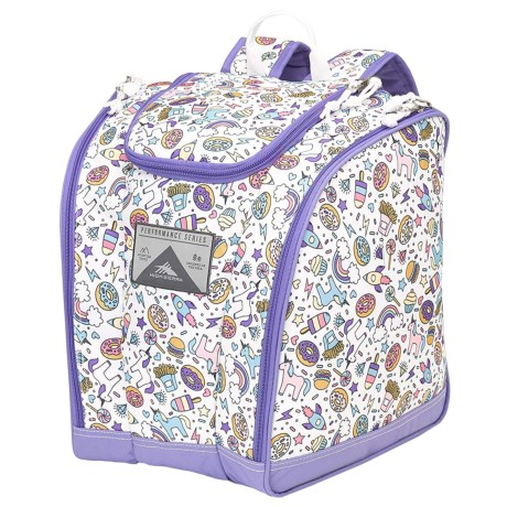 High Sierra Junior Trapezoid Boot Bag (For Little and Big Kids) in Sweet Cakes/Lavender/White