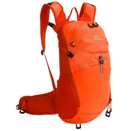 High Sierra Karadon 15L Backpack - Internal Frame in Electric Orange/Redline - Closeouts