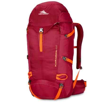 High Sierra Karadon 45L Backpack - Internal Frame in Carmine/Redline/Electric Orange - Closeouts