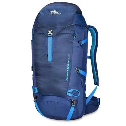 High Sierra Karadon 45L Backpack - Internal Frame in True Navy/Scuba/Pool - Closeouts