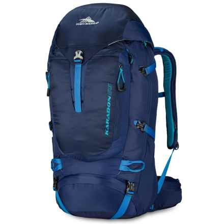 High Sierra Karadon 55L Backpack - Internal Frame in True Navy/Scuba/Pool - Closeouts