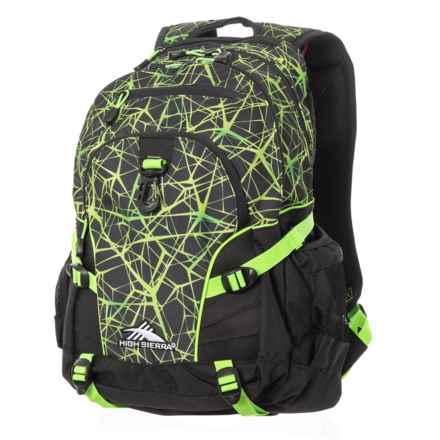 High Sierra Loop 33L Backpack in Digital Web/Black/Lime - Closeouts