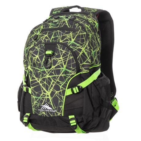 High Sierra Loop 33L Backpack in Digital Web/Black/Lime