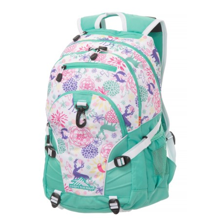 High Sierra Loop 33L Backpack in Wonderland/Aquamarine