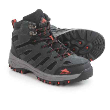 High Sierra Mammoth Hiker Boots (For Big Boys) in Charcoal/Black - Closeouts
