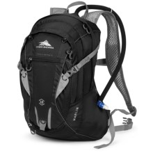 High Sierra Marlin 18L Hydration Pack - 70 fl.oz. in Black/Silver - Closeouts