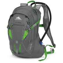 High Sierra Marlin 18L Hydration Pack - 70 fl.oz. in Charcoal/Kelly - Closeouts