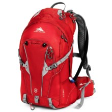 High Sierra Moray 22L Hydration Pack - 70 fl.oz. in Bright Red/Silver - Closeouts