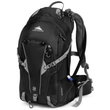 High Sierra Moray 22L Hydration Pack in Black/Silver - Closeouts