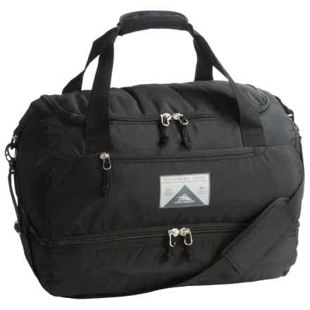 High Sierra Over-Under Cargo Duffel Bag in Black - Closeouts