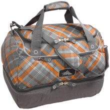 High Sierra Over-Under Cargo Duffel Bag in Diamond/Plaid/Charcoal - Closeouts