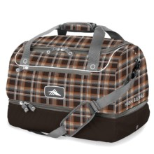 High Sierra Over-Under Cargo Duffel Bag in Mountain Plaid/Espresso - Closeouts