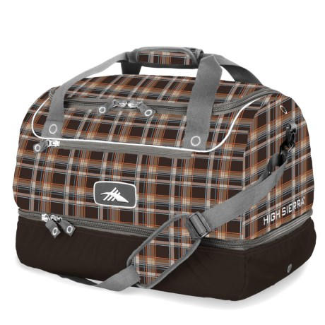 High Sierra Over-Under Cargo Duffel Bag in Diamond/Plaid/Charcoal