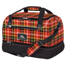 High Sierra Over-Under Cargo Duffel Bag in Punk Plaid/Black - Closeouts