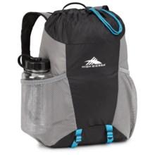 High Sierra Pack-N-Go 2 15L Backpack in a Bottle - BPA-Free in Black/Charcoal/Pool - Closeouts