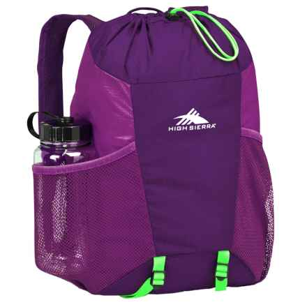 High Sierra Pack-N-Go 2 15L Backpack in a Bottle - BPA-Free in Eggplant/Berry Blast/Lime - Closeouts