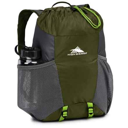 High Sierra Pack-N-Go 2 15L Backpack in a Bottle - BPA-Free in Moss/Mercury/Chartreuse - Closeouts
