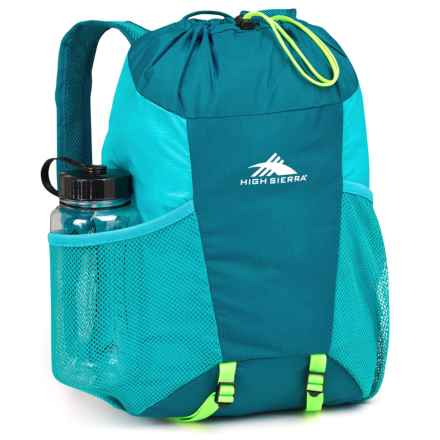 High Sierra Pack-N-Go 2 15L Backpack in a Bottle - BPA-Free in Sea/Tropic Teal/Zest - Closeouts