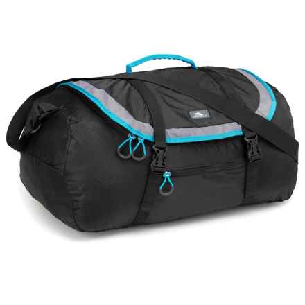High Sierra Pack-N-Go 40L Duffel Bag in Black/Charcoal/Pool - Closeouts