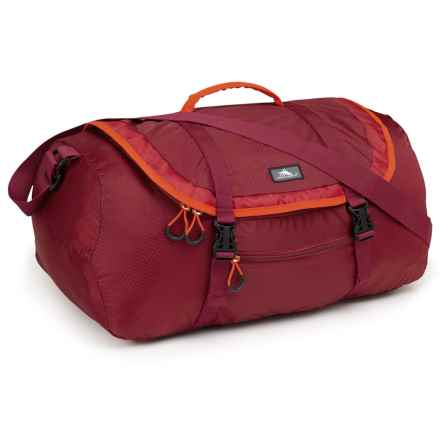 High Sierra Pack-N-Go 40L Duffel Bag in Brick Red/Carmine/Red Line - Closeouts