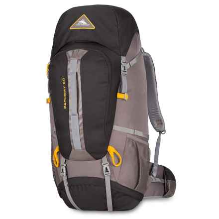 High Sierra Pathway 60L Backpack in Black/Slate/Gold - Closeouts
