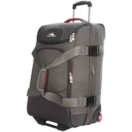 "High Sierra Prime Access Drop-Bottom Rolling Duffel Bag - 26"" in Charcoal/Mercury - Closeouts"