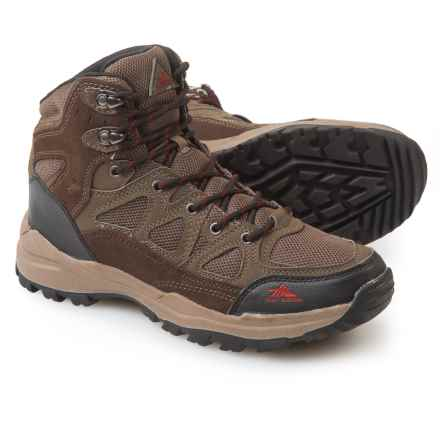 High Sierra Prime Hiking Boots - Suede (For Men) in Charcoal - Closeouts