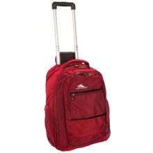 High Sierra Rev Wheeled Backpack in Crimson/Black - Closeouts