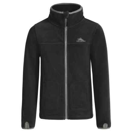 High Sierra Riley Fleece Jacket (For Little and Big Boys) in Black/Charcoal - Closeouts