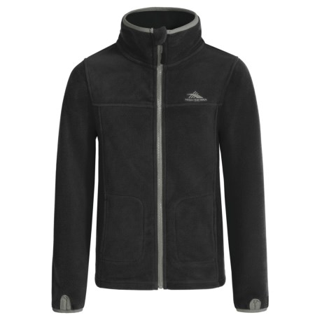 High Sierra Riley Fleece Jacket (For Little and Big Boys) in Black/Charcoal
