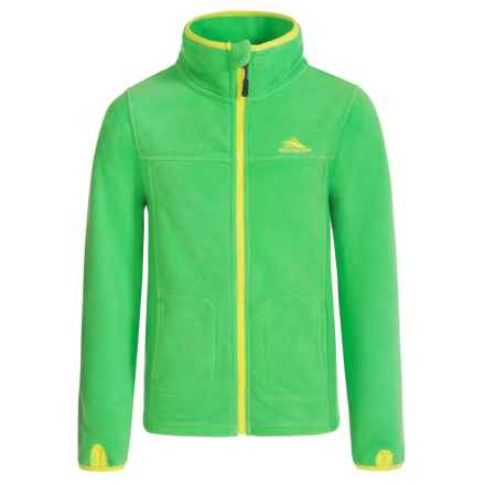High Sierra Riley Fleece Jacket (For Little and Big Boys) in Kelly/Chartreuse - Closeouts