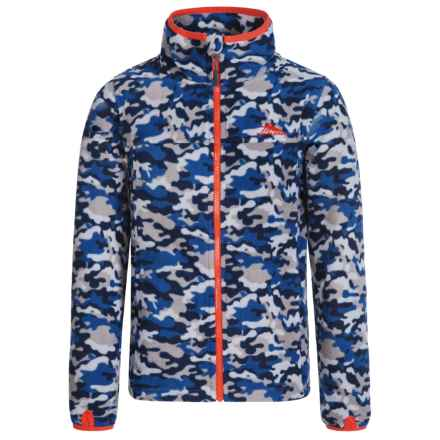 High Sierra Riley Fleece Jacket (For Little and Big Boys) in Navy Camo/Red Line - Closeouts