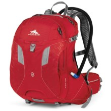 High Sierra Riptide 25 Hydration Pack - 70 fl.oz. in Bright Red/Silver - Closeouts