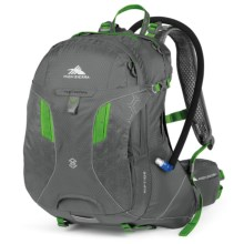 High Sierra Riptide 25 Hydration Pack - 70 fl.oz. in Charcoal/Kelly - Closeouts
