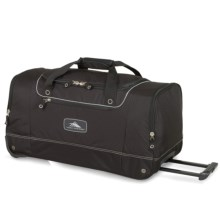 "High Sierra Rolling Cargo Duffel Bag - 28"" in Black - Closeouts"