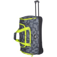 "High Sierra Rolling Cargo Duffel Bag - 28"" in Grey Lime Climb/Black/Charcoal - Closeouts"