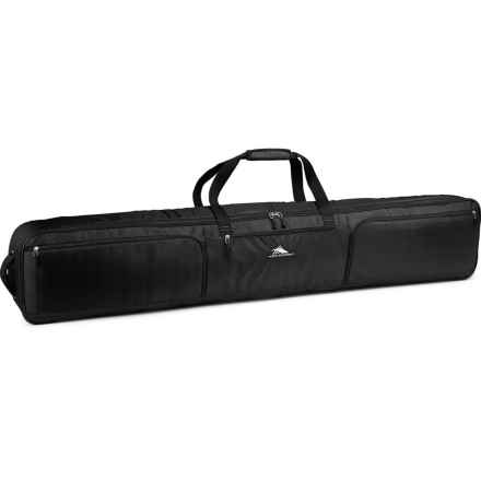 High Sierra Rolling Double Ski/Snowboard Bag in Black/Black - Closeouts